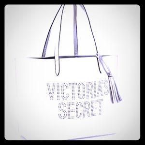 White Victoria Secret tote bag